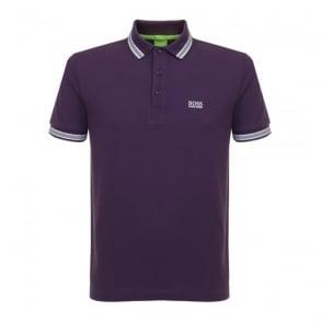 Hugo Boss Green Clothing Hugo Boss Green Paddy Dark Purple Polo Shirt 50302557