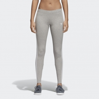 Grey 3 Stripe Tights