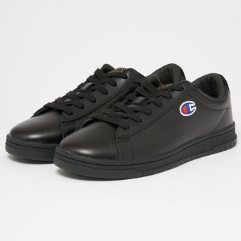 919 Low Top 'C' Patch Trainers - Black