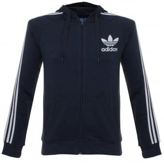 Adidas CLFN Legend Ink Hoodie Zip Sweatshirt