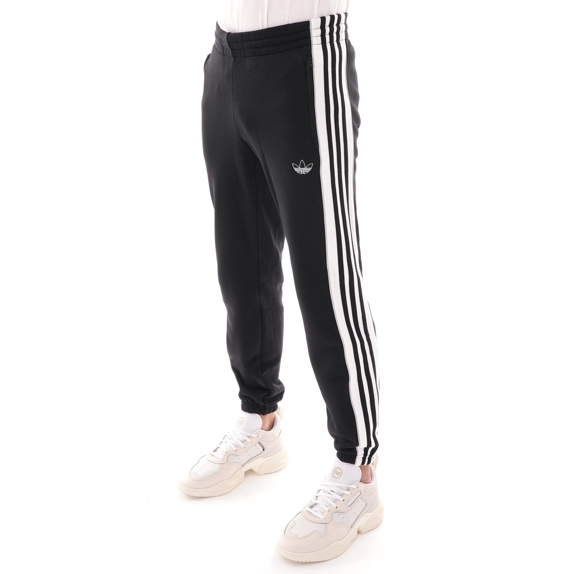 adidas pants stripes shoed
