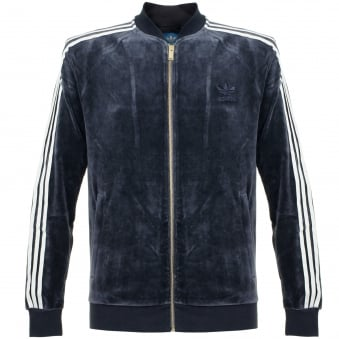 Adidas Originals Beckenbauer Velour Legend Ink Track Jacket AY9222