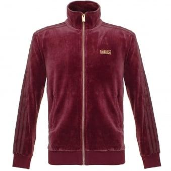 Adidas Originals Beckenbauer Velour Maroon Track Jacket AY9223