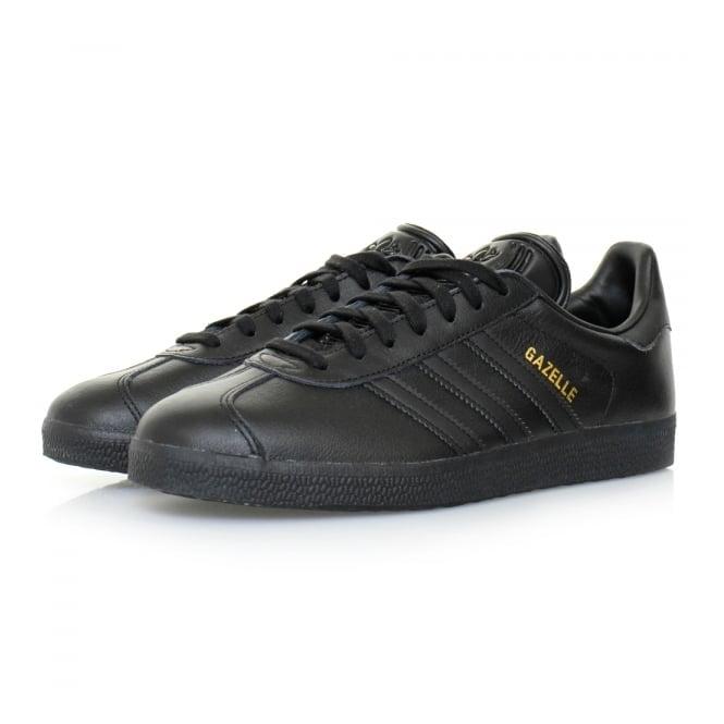Adidas Originals Adidas Originals Gazelle Black Leather Shoes BB5497