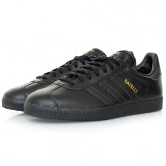 Adidas Originals Gazelle Black Leather Shoes BB5497