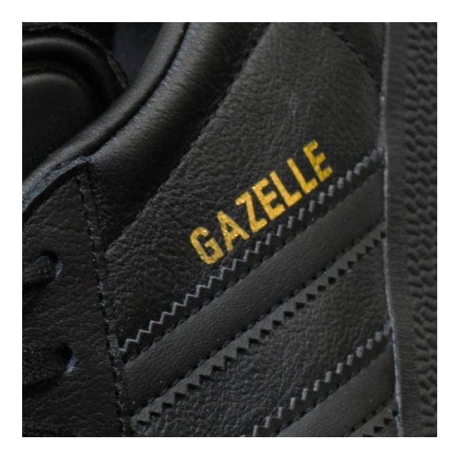 black leather gazelles