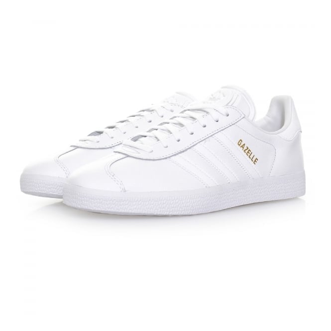 Adidas Originals Adidas Originals Gazelle White Leather Shoes BB5498