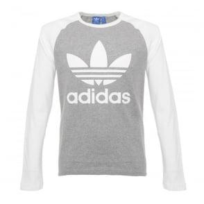 Adidas Originals Trefoil LS Grey T-Shirt AY7803