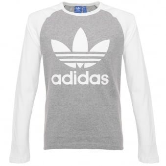 Adidas Originals Trefoil LS Grey T-Shirt AY7803