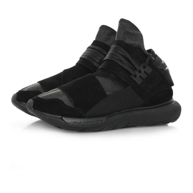 Adidas Y-3 Adidas Y-3 Qasa High Black Leather Shoe BB4733