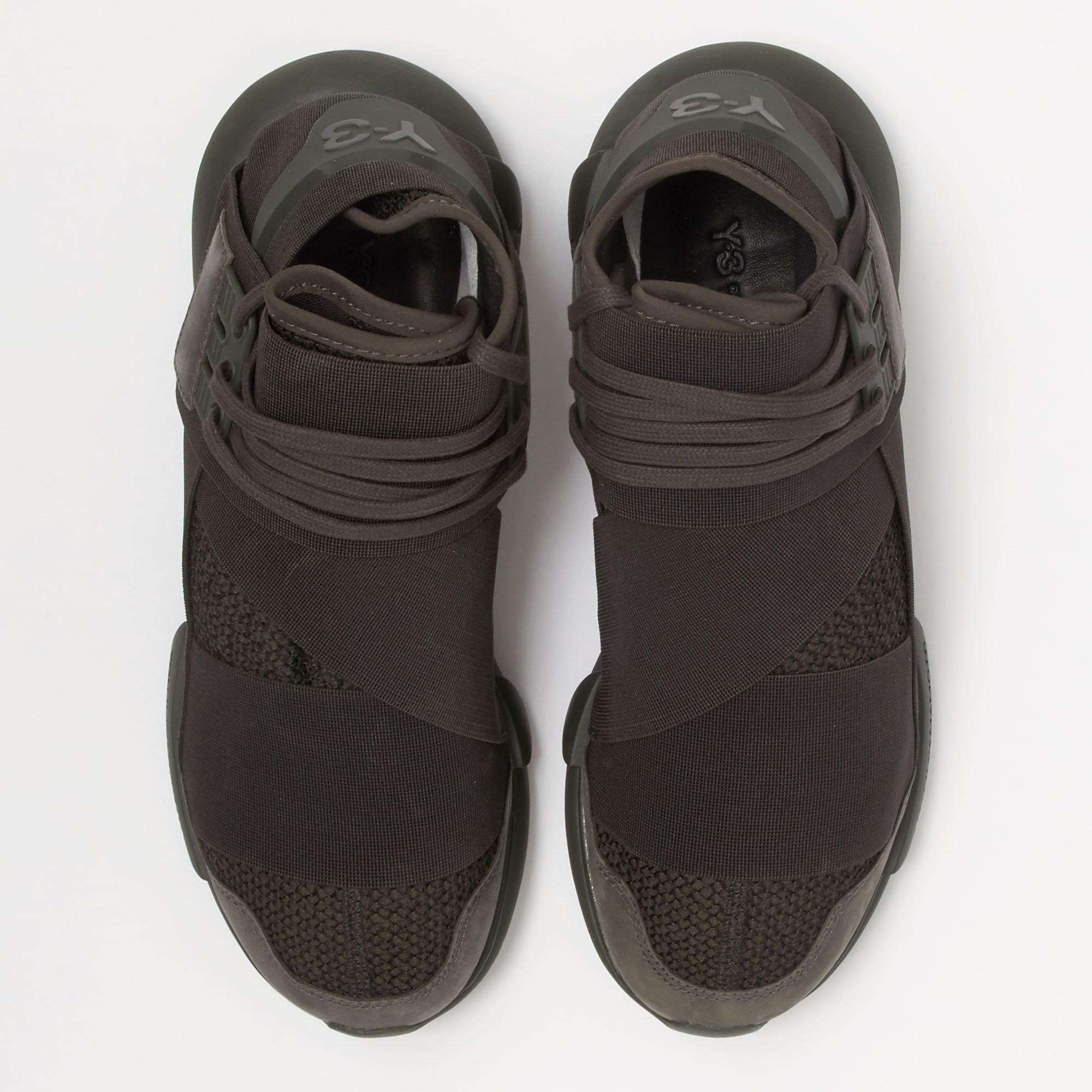 c75ba0ec07017 Adidas Y-3 Qasa High (Black Olive) Sneakers