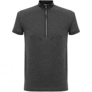 Adidas Y-3 Zip Charcoal Melange Polo Shirt B47575