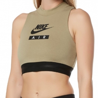 Olive Air Crop Top