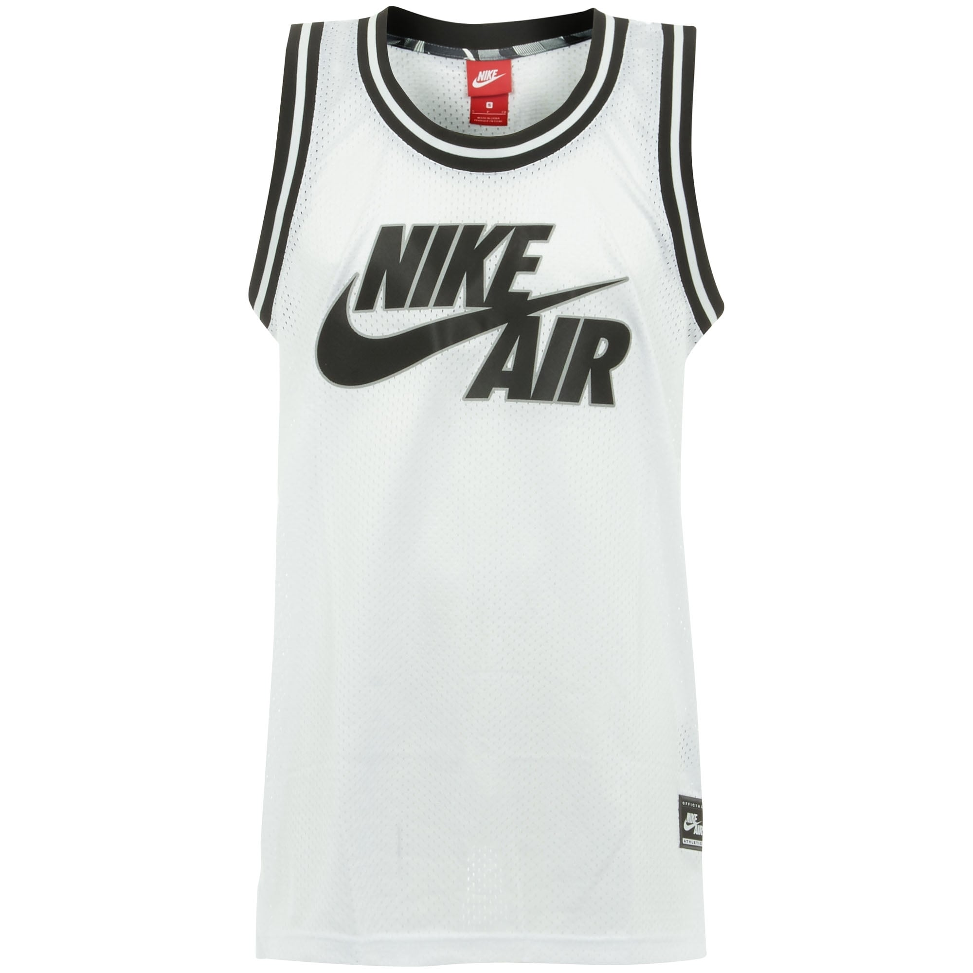 Nike UK Online Store | Air Logo White Basketball Jersey