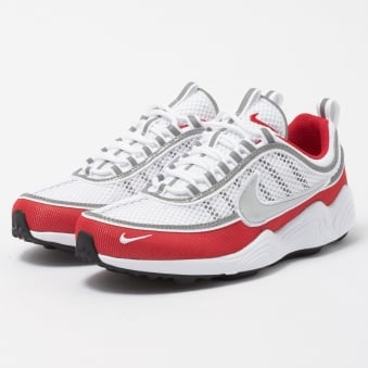 Air Zoom Spiridon 16 - White & Red