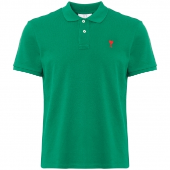 AMI de Couer Polo Shirt - Green