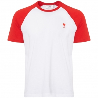 AMI de Couer T-Shirt - White & Red
