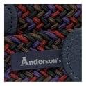 Anderson's Belts Anderson Woven Multi Purple Burgundy Braided Belt  AF2949