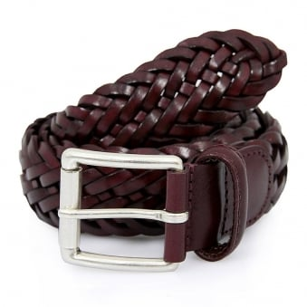 Andersons Braided Bordeaux Belt AF2984