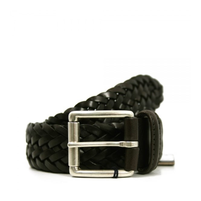 Anderson's Belts Andersons Braided Brown Leather Belt A1097 AF2984 PL178 M1
