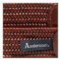 Anderson's Belts Anderson's Woven Medium Brown Braided Leather Belt AF2817 C1