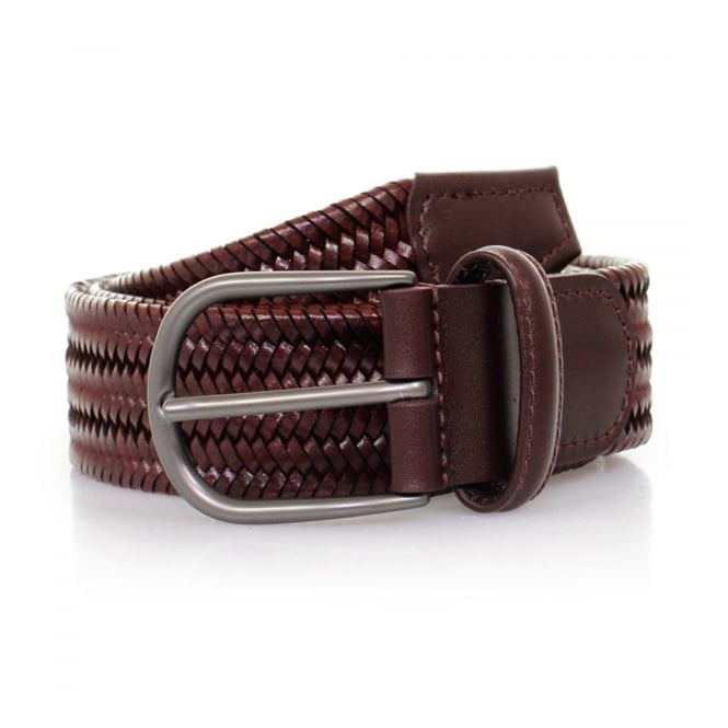 Anderson's Belts Anderson's Woven Wine Braided Leather Belt AF2817