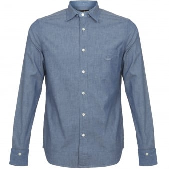 Vivienne Westwood Anglomania Detachable Detail Shirt Blue 2506J390496