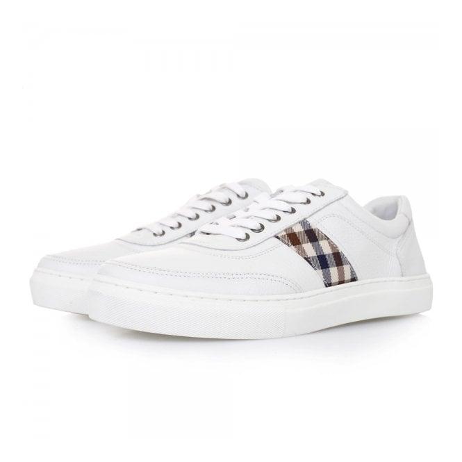 Aquascutum Bradley White Leather Shoes 021590100