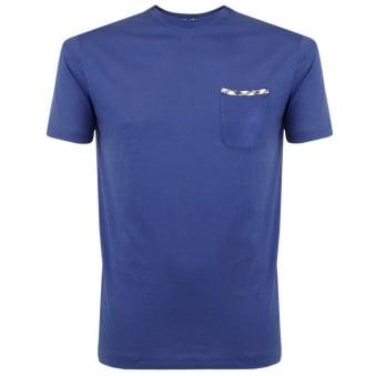 Aquascutum Brady SS Blue T-Shirt 011559006