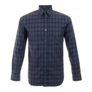 Aquascutum Navy Club Check Shirt 021457