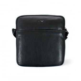 Armani Jeans Black Leather Bag 06228-12
