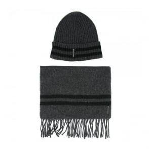 Armani Jeans Grey Scarf and Beanie Pack Z6806-G