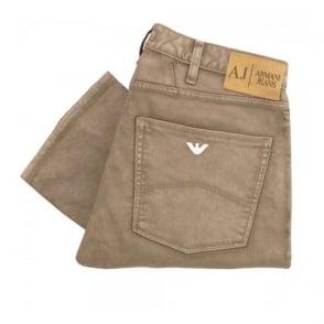 Armani Jeans J45 Beige Dyed Denim Jeans B6J74