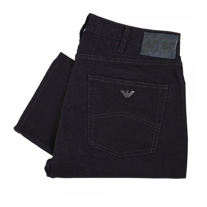 Armani Jeans J45 Regular Fit Navy Cotton Twill Jeans B6J45 MW E5
