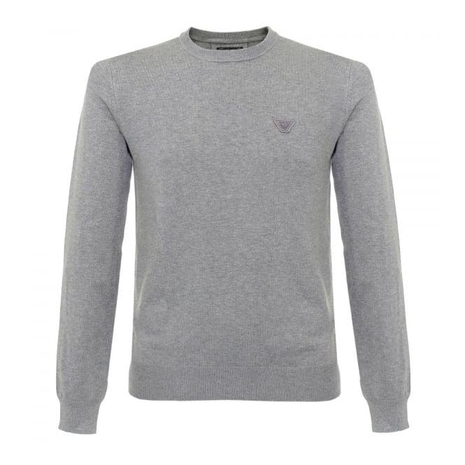 Armani Jeans Knit Melange Grigio Jumper 6X6MA5