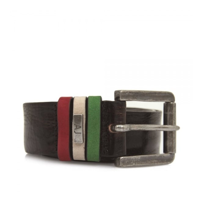 Armani Accessories Armani Jeans Liquorice Leather Belt U6168-T7