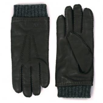 Armani Jeans Nero Black Gloves Z6408-12