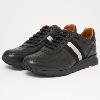 Aston Leather Trainers - Black