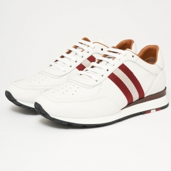 Aston Leather Trainers - White