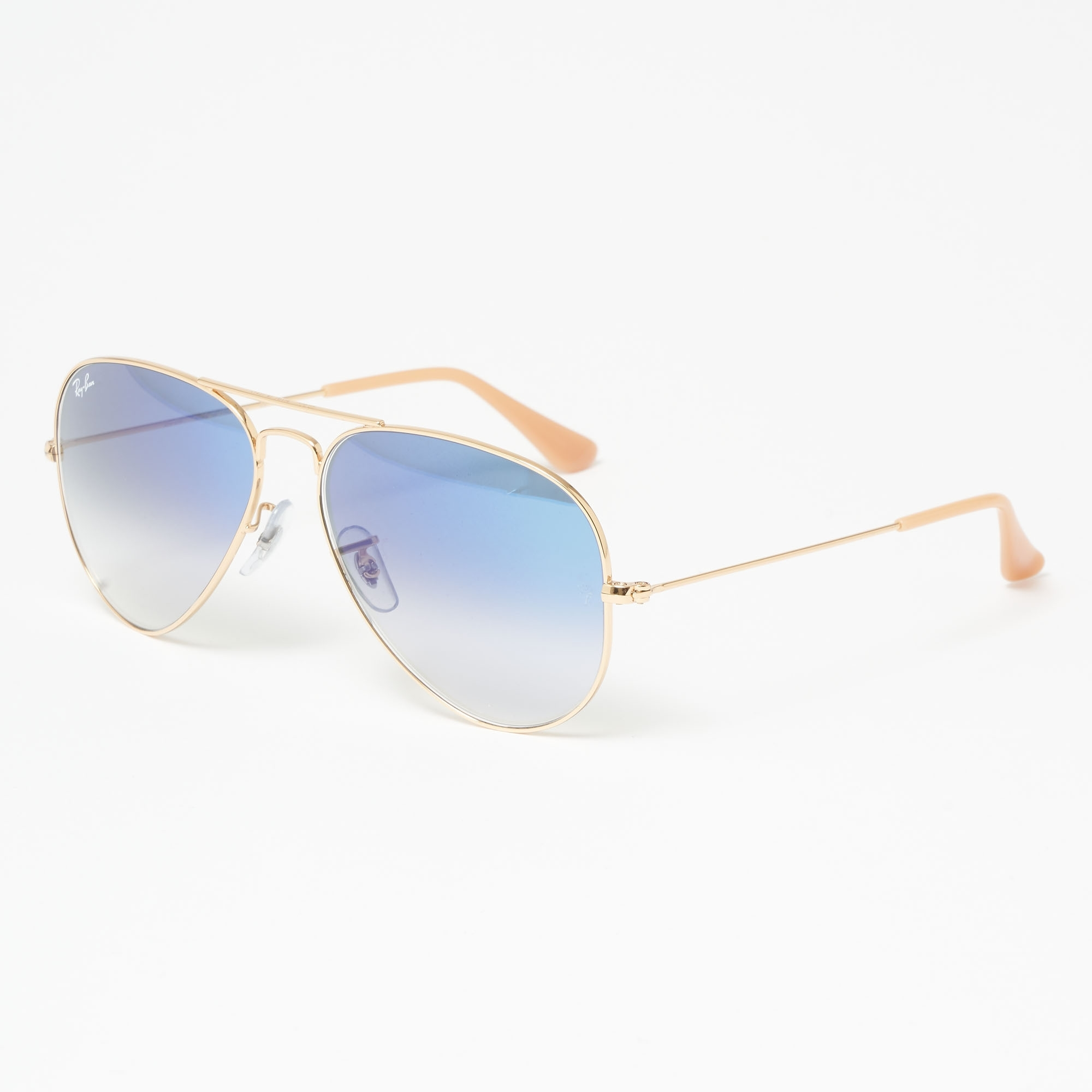 a7c81ffc35 Gold Aviator Gradient Sunglasses - Light Blue Gradient Lenses