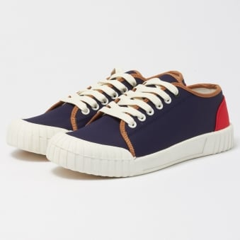 Babe Low Nylon Shoes - Navy & Red
