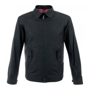 Baracuta G4 Shirt Collar Black Harrington Jacket BRCPS0090