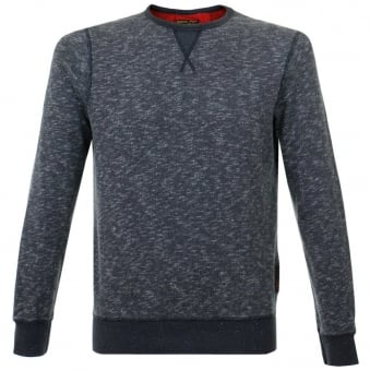 Barbour Bale Crew Navy Sweatshirt MML0707NY91