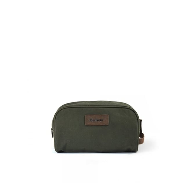 Barbour Accessories Barbour Drywax Olive Washbag UBA0361OL71