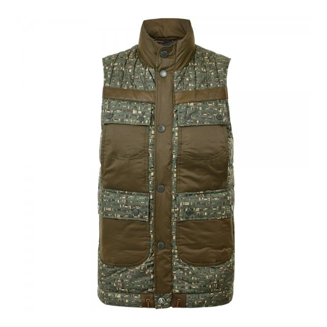 Barbour x White Mountaineering Barbour Edenkawa Quilted Olive Gillet MQU0718OL71