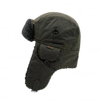 Barbour Fleece Lined Hunter Hat Olive 0033OL
