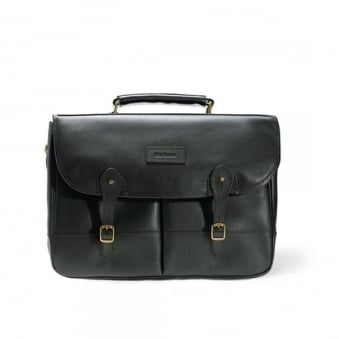 Barbour Leather Black Briefcase UBA0011BK11