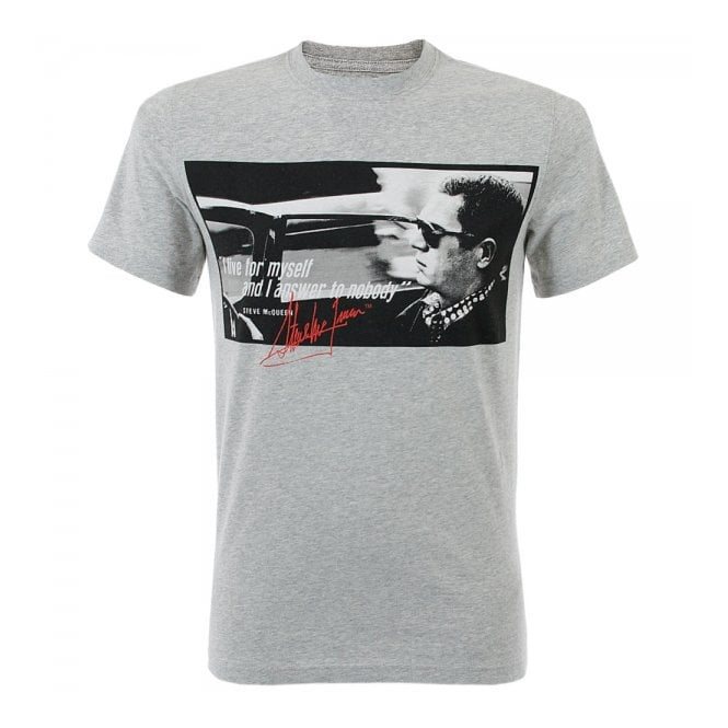 barbour steve mcqueen clothing nobody grey t shirt. Black Bedroom Furniture Sets. Home Design Ideas