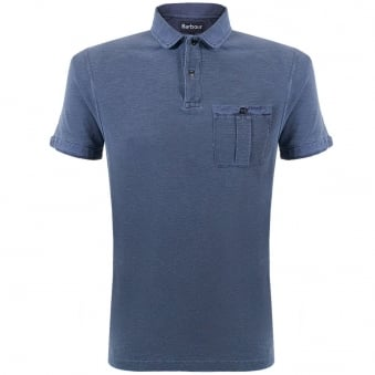 Barbour Tracker Navy polo Shirt MML0666NY91