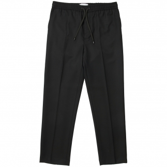 Black Basket Weave Carrot Fit Trousers